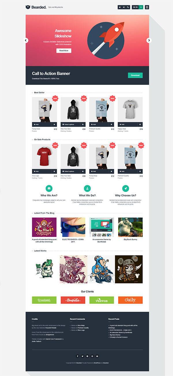 Theme WordPress bán hàng miễn phí Bearded