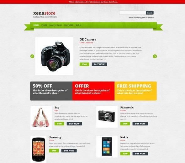 Theme WordPress điện thoại, máy ảnh - Xenastore